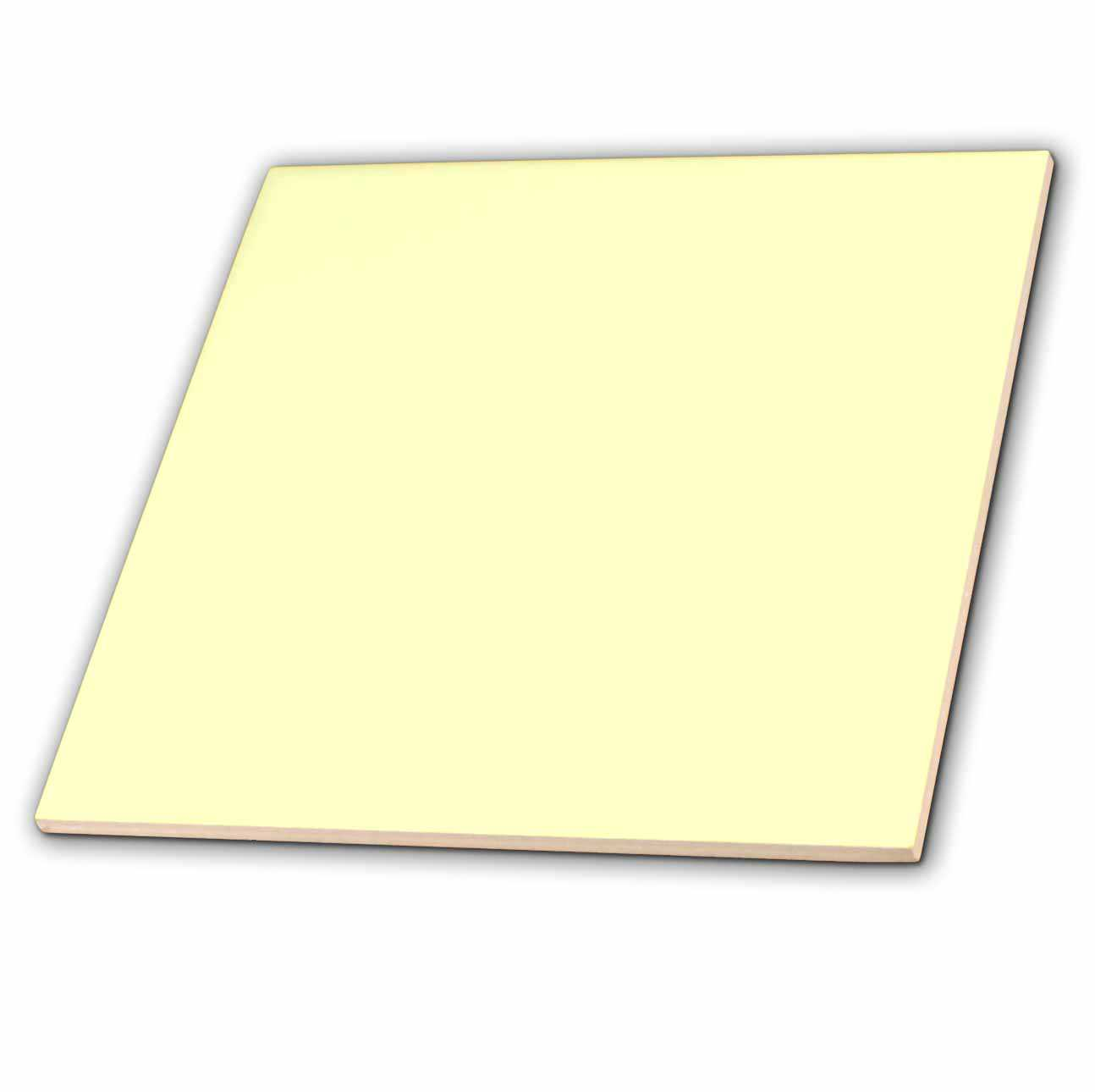 3dRose Chiffon Yellow - Ceramic Tile, 4-inch