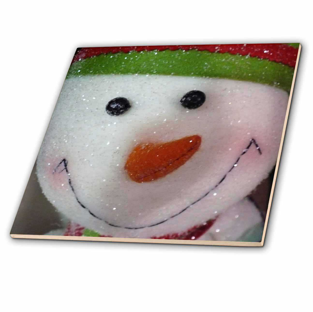 3dRose Happy Snowman - Ceramic Tile, 8-inch