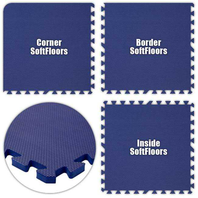 Alessco SFRB3250 SoftFloors -Royal Blue -32 x 50 Set