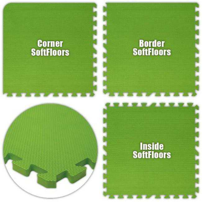 Alessco SFLG2844 SoftFloors -Lime Green -28 x 44 Set